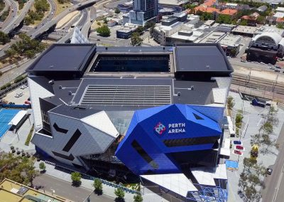 Perth Arena Aerial Shot North Bridge