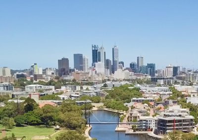 Perth City from East Perth Aerial Shot
