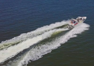 Speed Boat Aerial Shot
